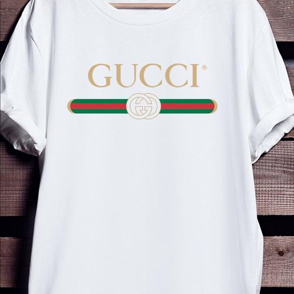 0b3e65ef4 Gucci Tops | White Tshirt Unisex | Poshmark